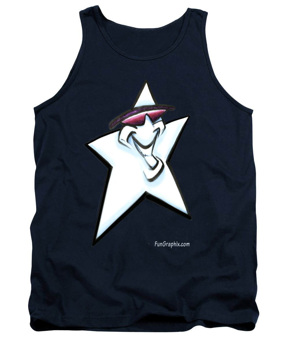 Star Tank Top featuring the digital art Star by Kevin Middleton