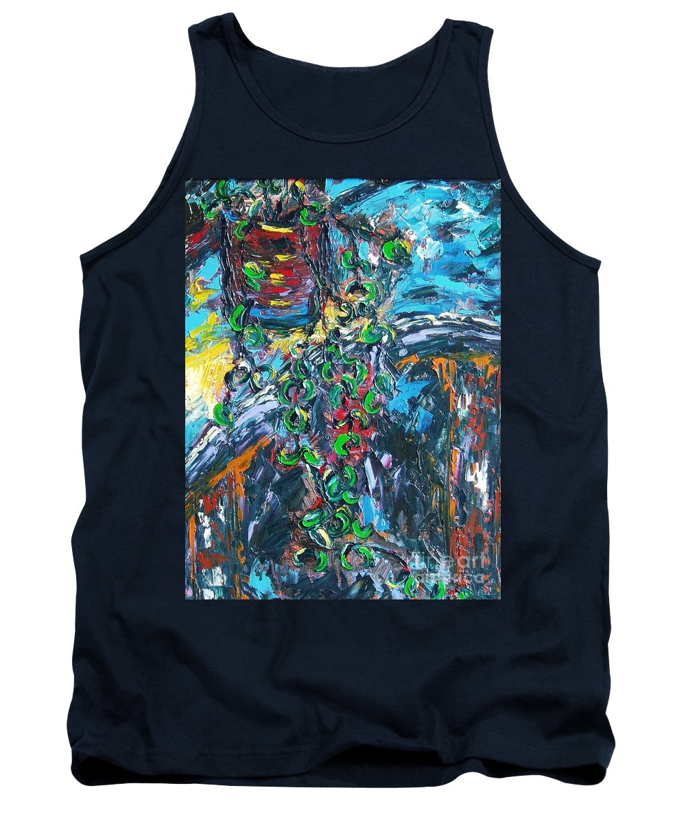 Abstract Paintings Tank Top featuring the painting Still Life by Seon-Jeong Kim