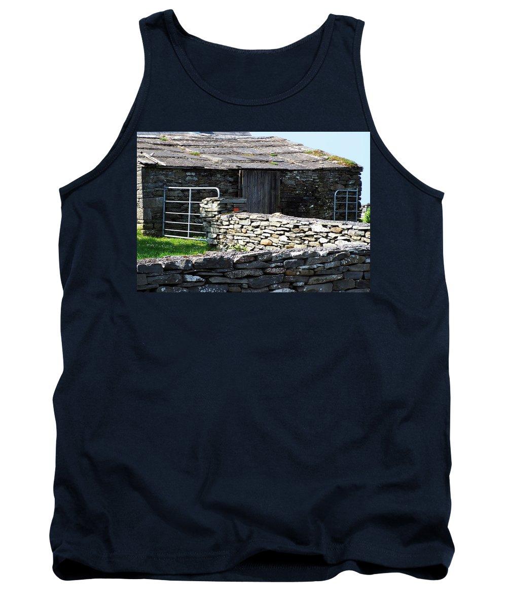 Irish Tank Top featuring the photograph Stone Barn Doolin Ireland by Teresa Mucha