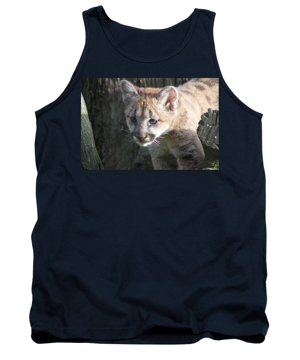 Cougar Tank Top featuring the photograph Studying The Ways by Laddie Halupa