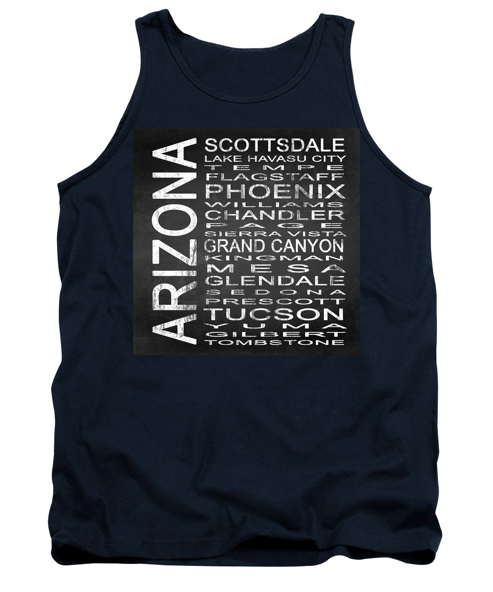 Subway Sign Tank Top featuring the digital art Subway Arizona State Square by Melissa Smith