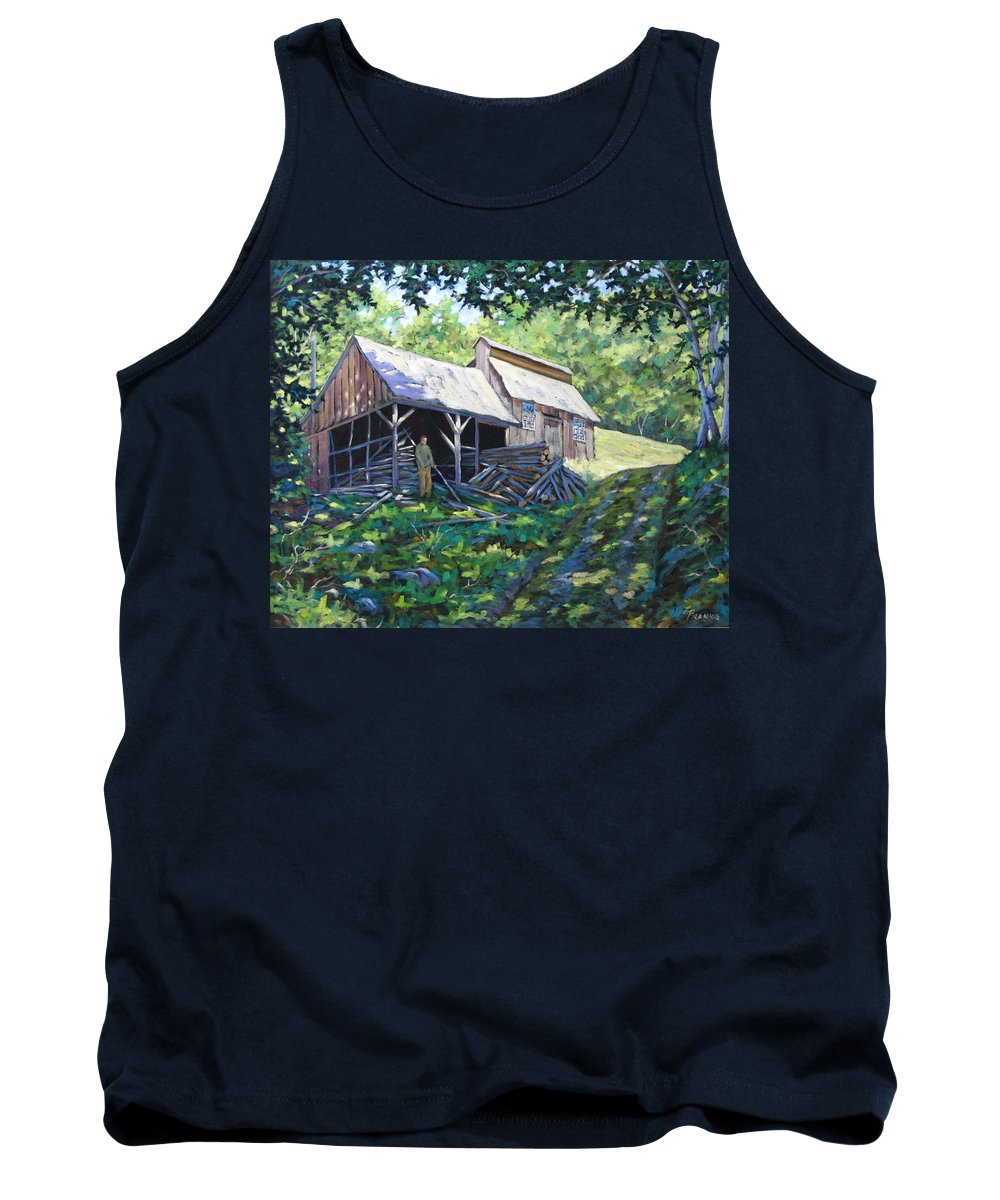 Sugar Shack Tank Top featuring the painting Sugar Shack In July by Richard T Pranke