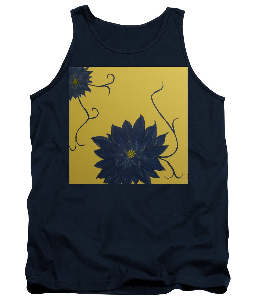 Flowers Tank Top featuring the painting Summer Blooms by Laura Johnson