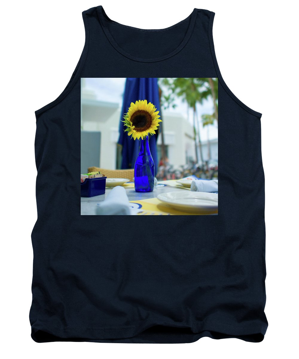 Flower Tank Top featuring the photograph Sunflower by Ferry Zievinger