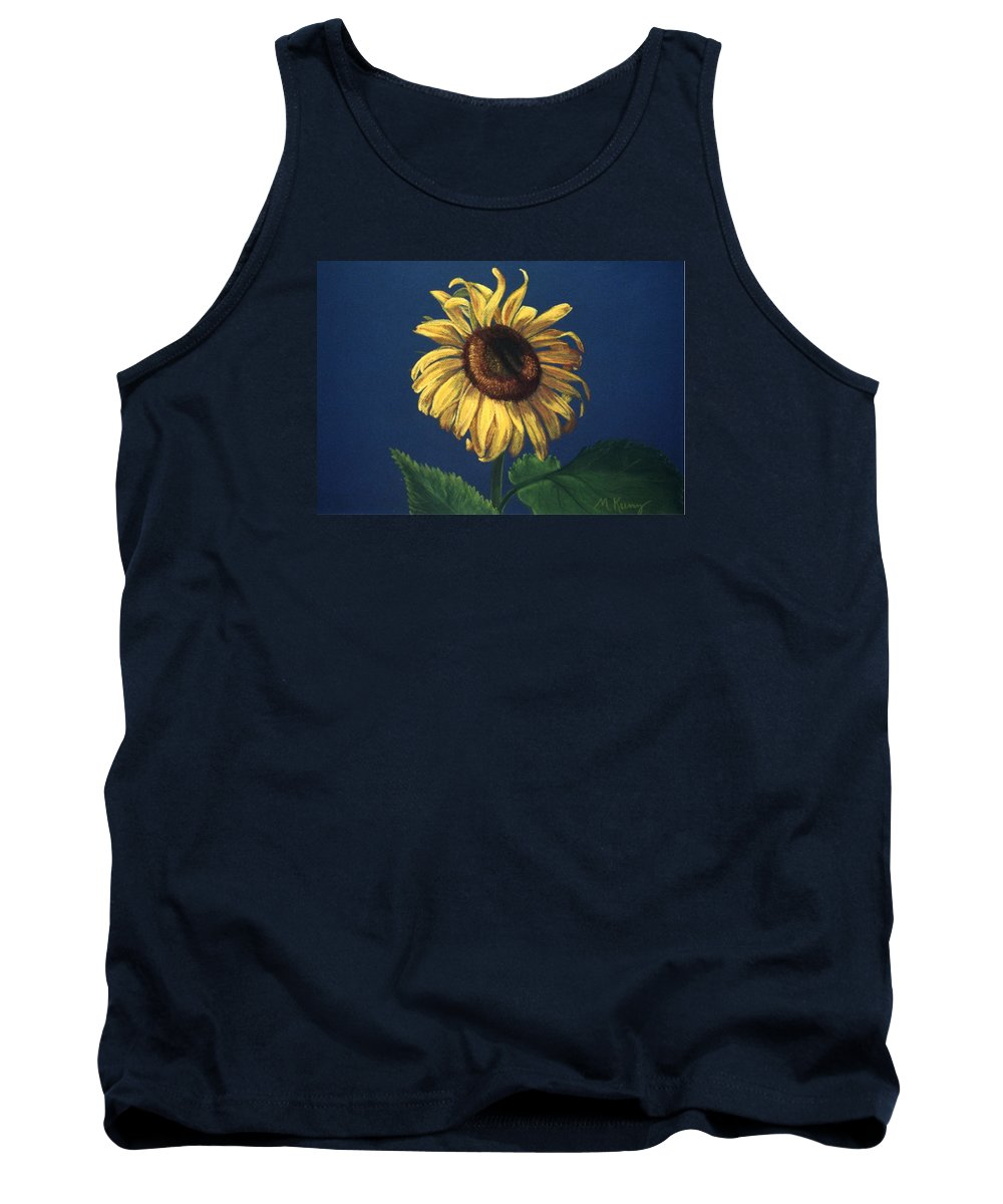 Flower Tank Top featuring the painting Sunflower by Melissa Joyfully