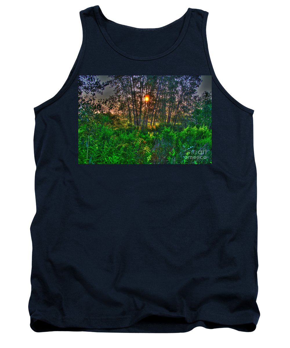 Related Tags: Tank Top featuring the photograph Sunrise In The Swamp-4 by Robert Pearson