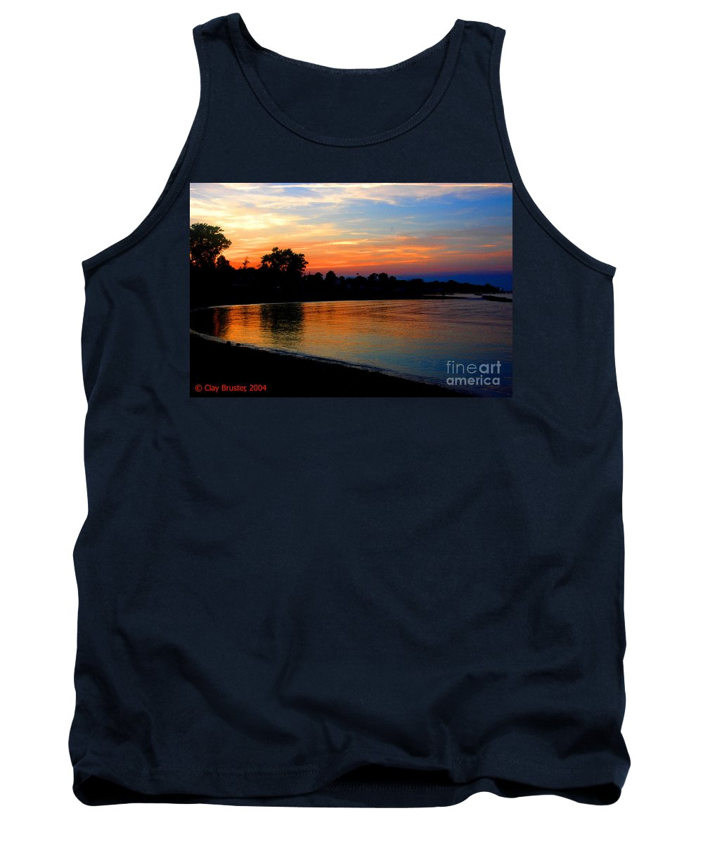 Clay Tank Top featuring the photograph Sunset At Colonial Beach Cove by Clayton Bruster