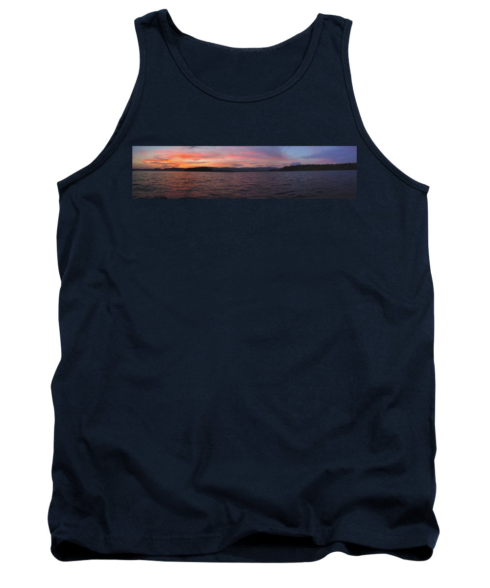Lake Tank Top featuring the photograph Sunset At Squam Lake New Hampshire by Nancy Griswold