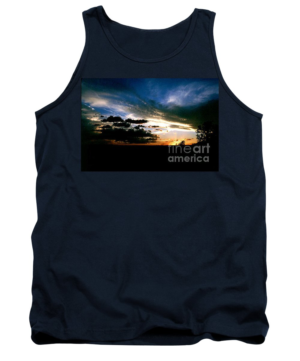 Sunset Tank Top featuring the photograph Sunset At The North Rim by Kathy McClure