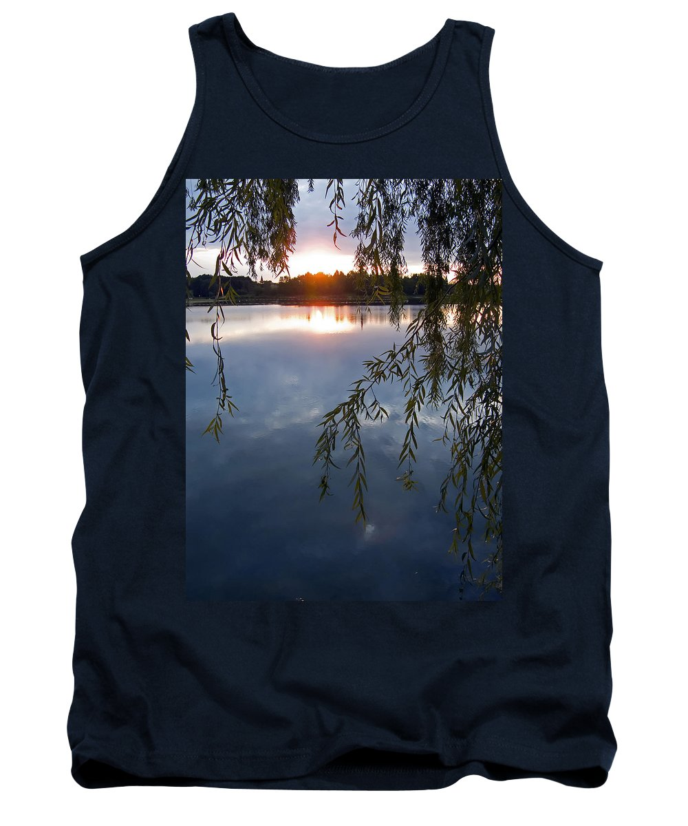 Nature Tank Top featuring the photograph Sunset by Daniel Csoka