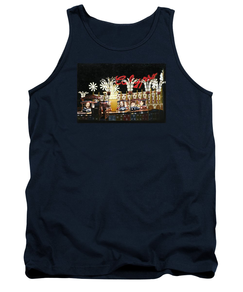 Surreal Tank Top featuring the painting Surreal Carnival by Dave Martsolf