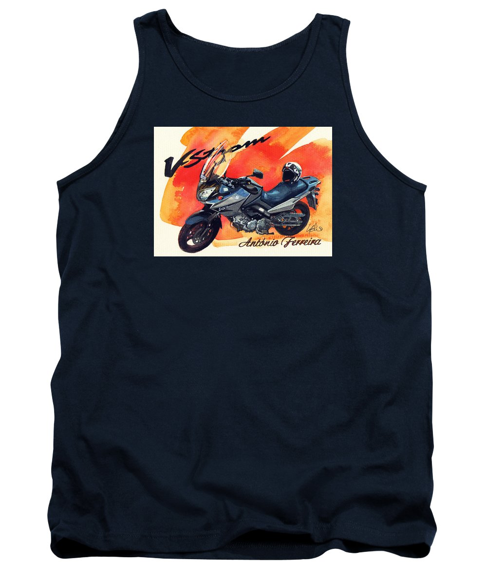 Suzuki Strom 650 Tank Top featuring the painting Suzuki Strom 650 by Yoshiharu Miyakawa