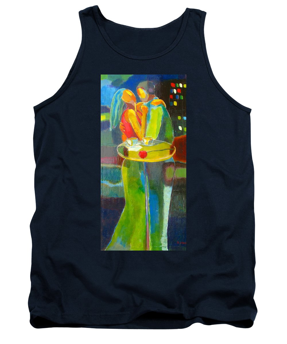 Love Tank Top featuring the painting Sweet Moment by Habib Ayat