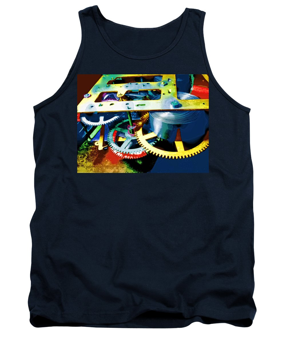 Swiss Movement Tank Top featuring the mixed media Swiss Movement by Dominic Piperata