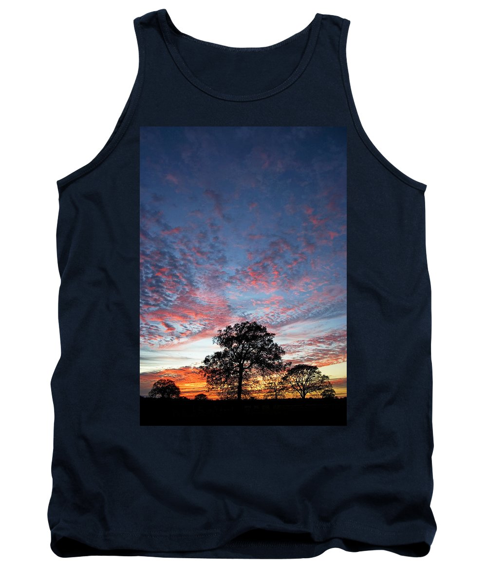 Tree Tank Top featuring the photograph Texas Sunset by Skip Hunt