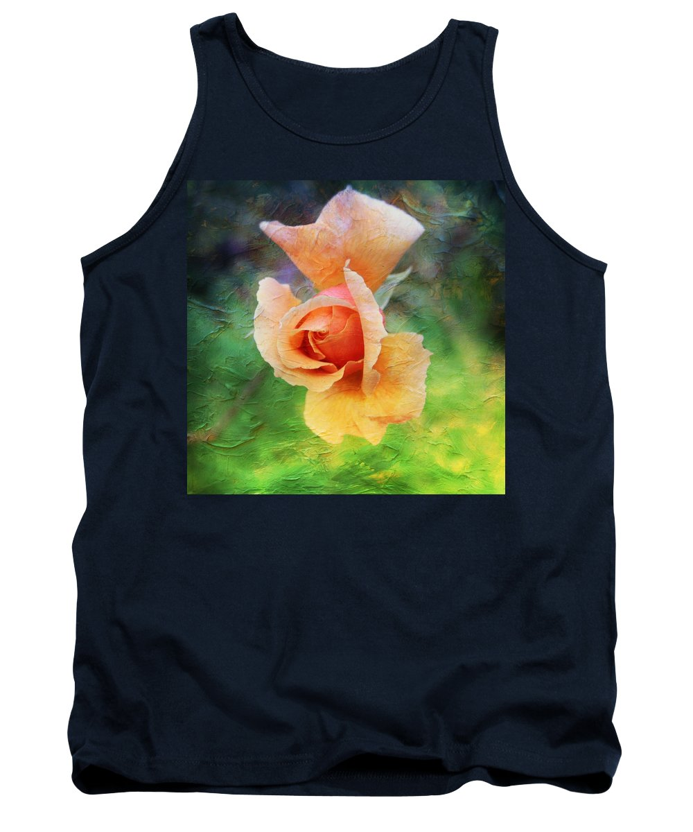 Rose Tank Top featuring the photograph Textured Rose 3 by Mo Barton