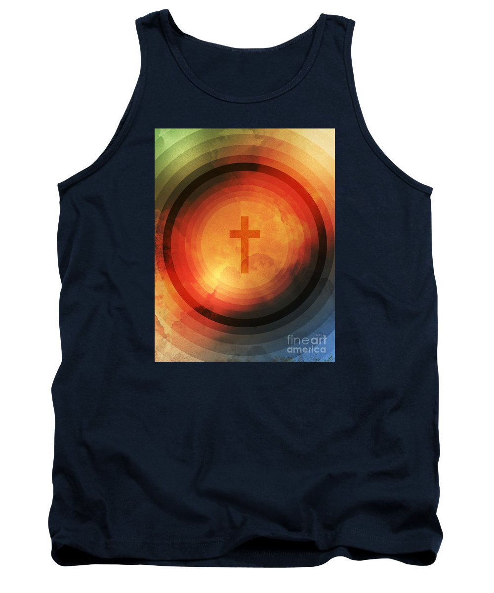 Religion Tank Top featuring the digital art Thanks Be To God by Phil Perkins