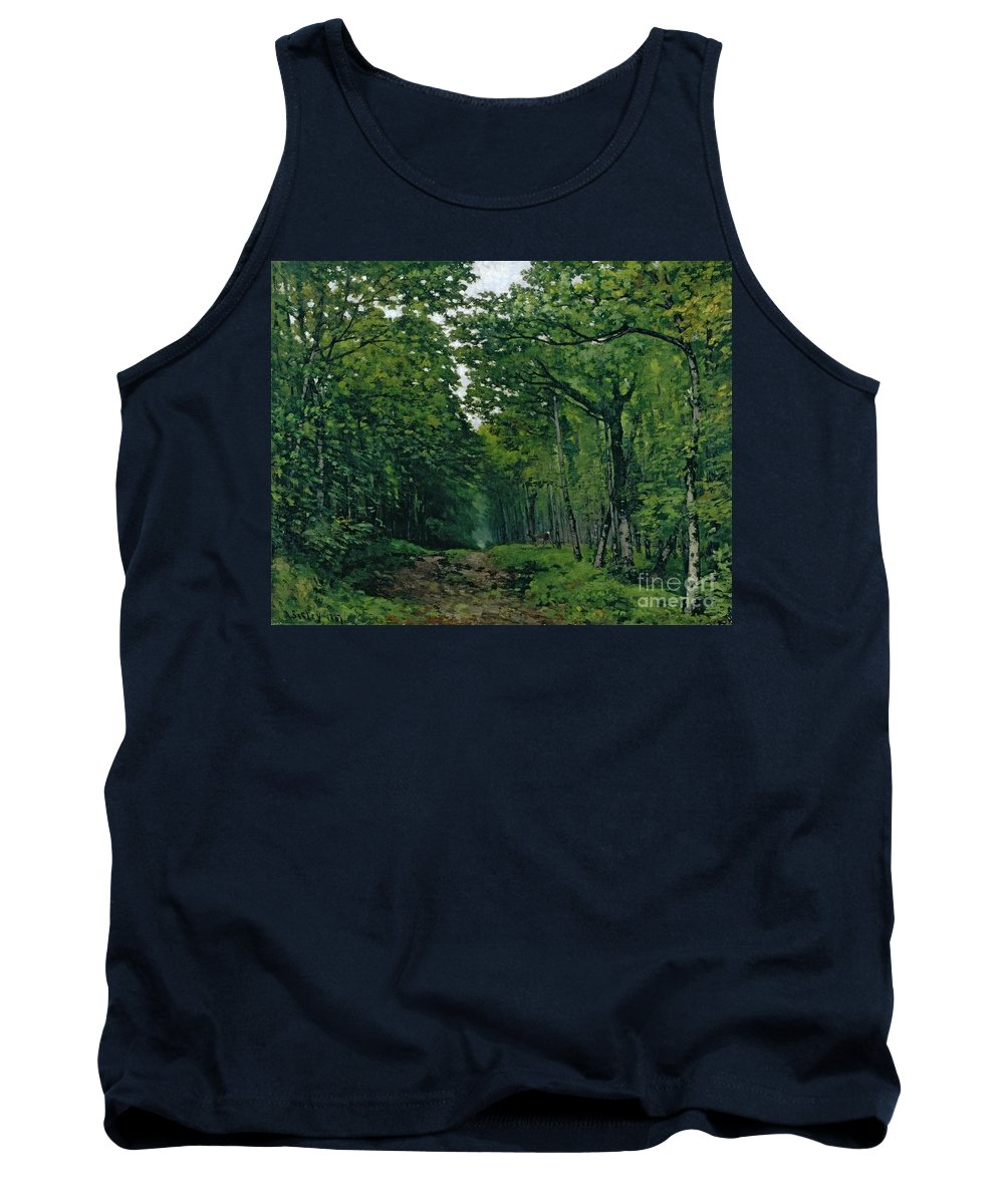 The Tank Top featuring the painting The Avenue Of Chestnut Trees by Alfred Sisley