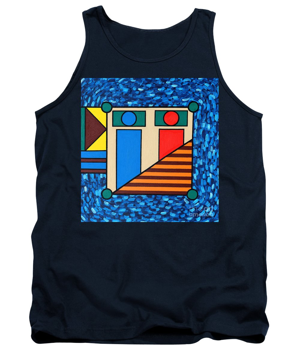 Bed Tank Top featuring the painting The Bedroom by Patrick J Murphy