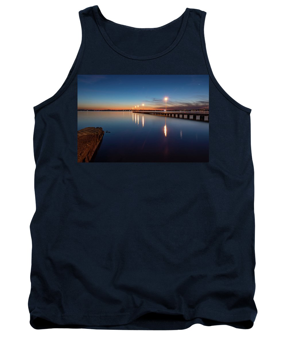 Sky Tank Top featuring the photograph The Blue Hour #2 by Sue Errington-Wood