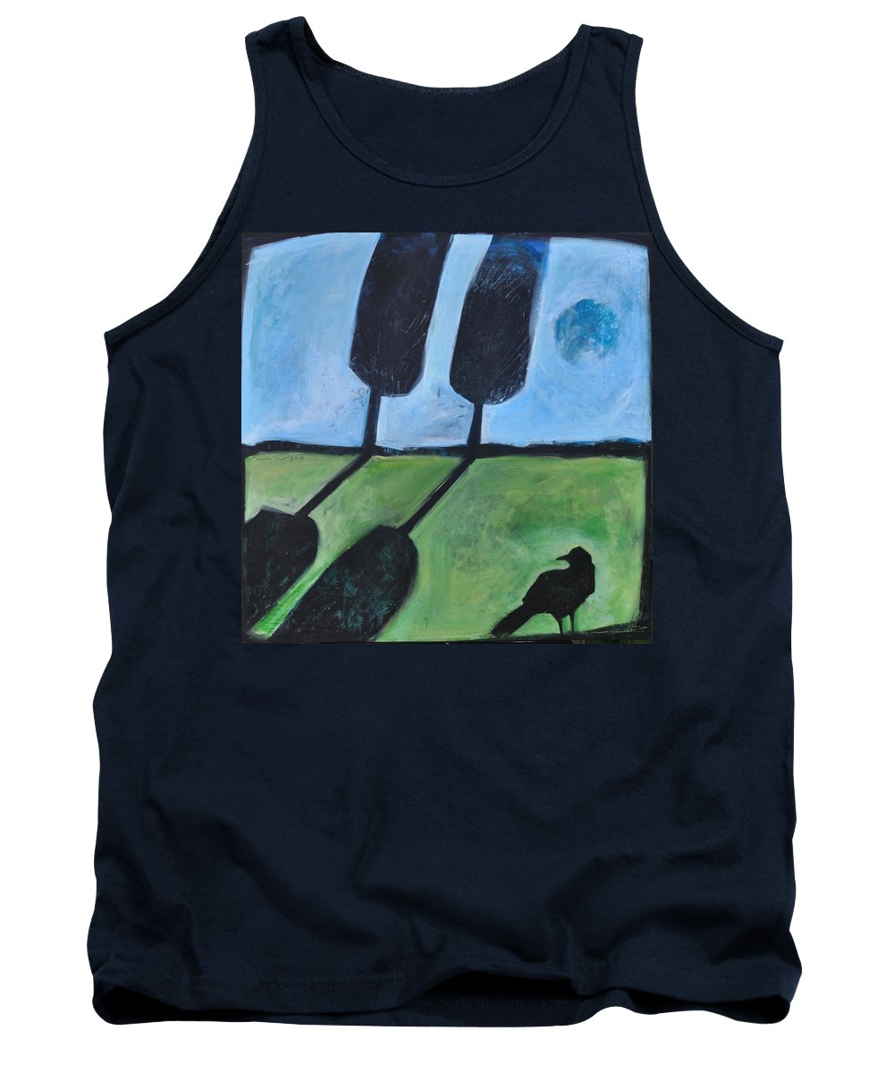 Bird Tank Top featuring the painting The Casual Observer by Tim Nyberg