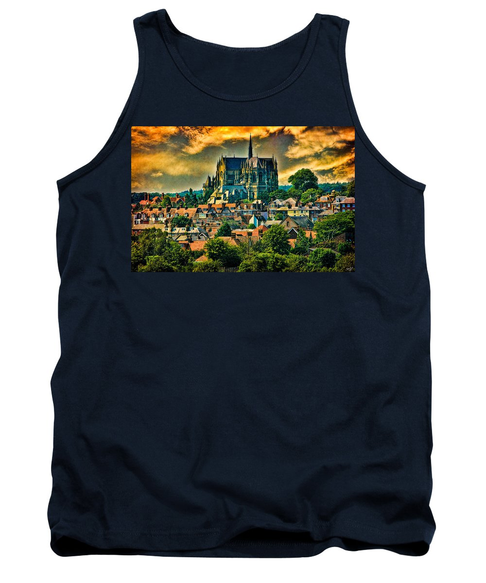 Hdr Tank Top featuring the photograph The Cathedral At Arundel by Chris Lord