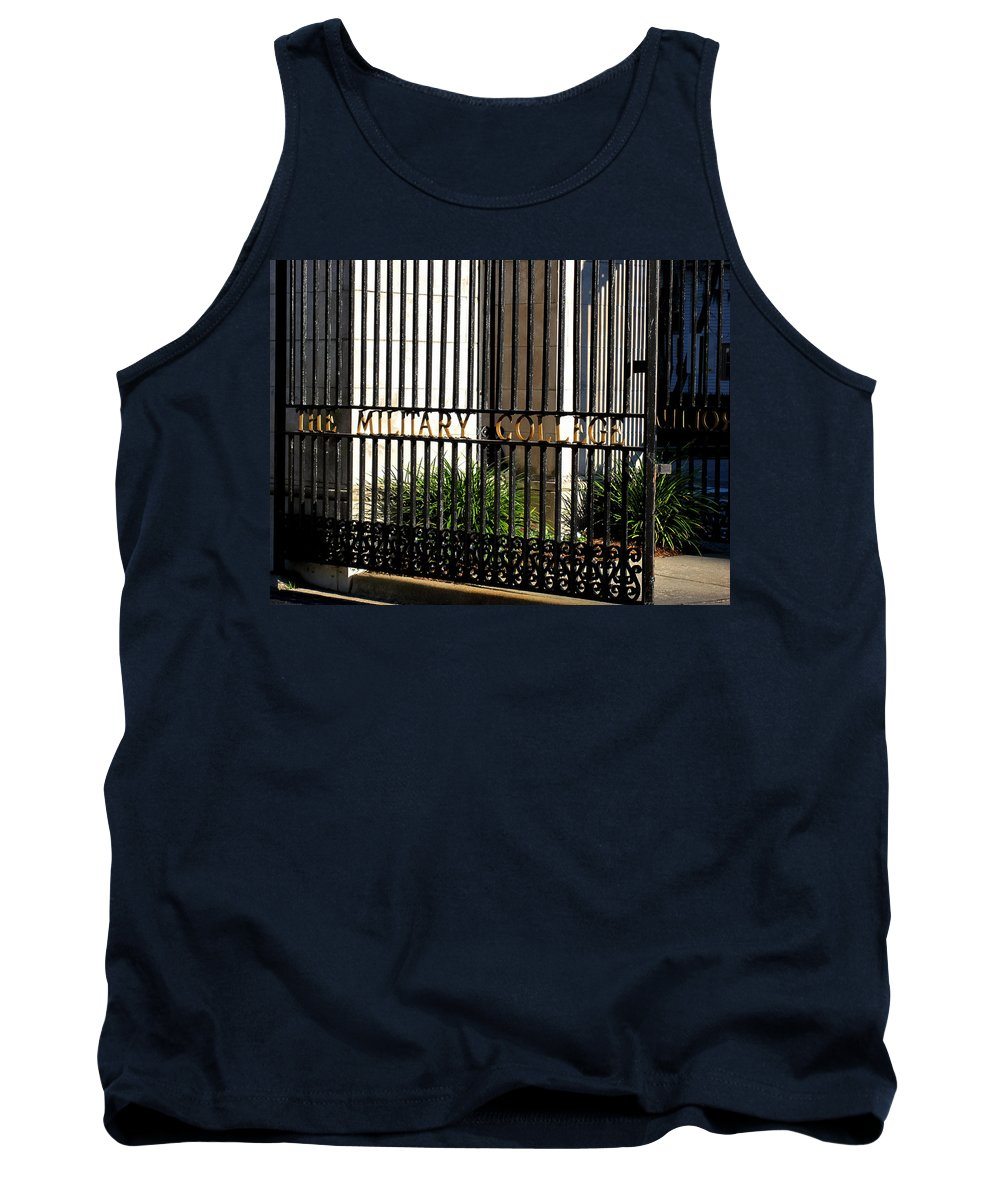 Photography Tank Top featuring the photograph The Citadel In Charleston V by Susanne Van Hulst