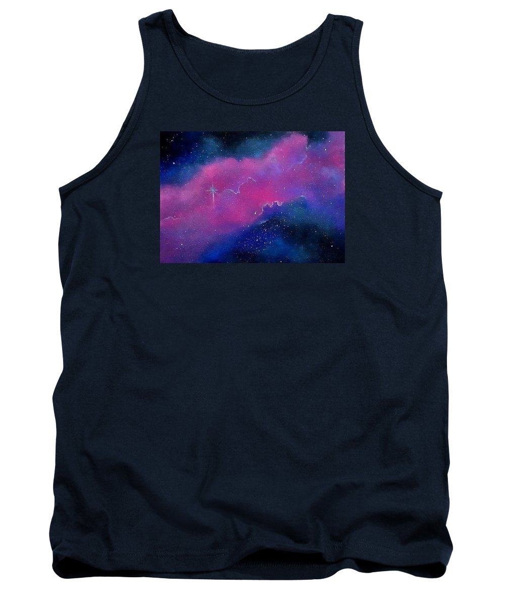 Space Tank Top featuring the painting The Cosmos by Sierra Van Hoose