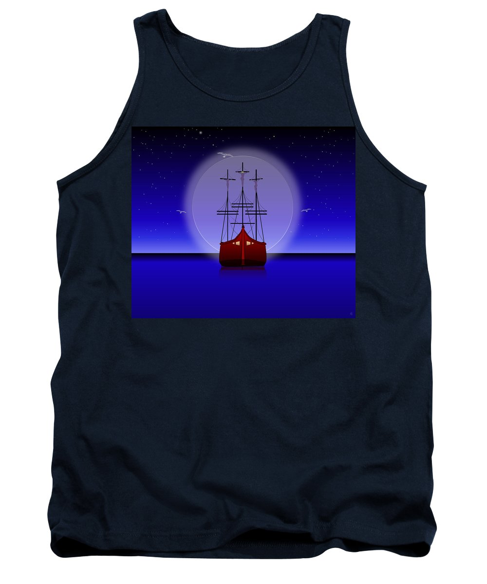 Crucifixion Tank Top featuring the digital art The Crucifixion On The Sea by Ethos Lambousa