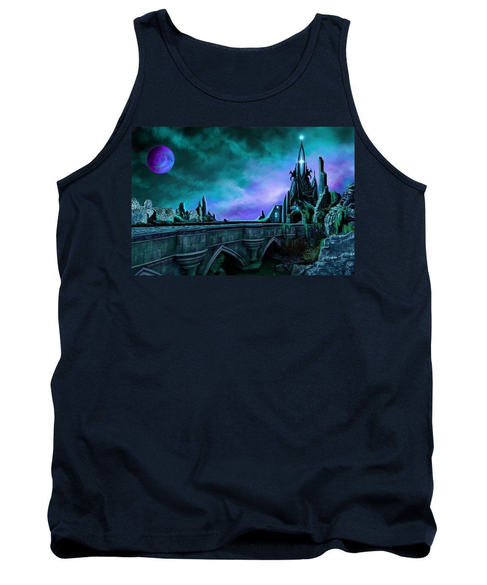 Copyright 2015 - James Christopher Hill Tank Top featuring the painting The Crystal Palace - Nightwish by James Christopher Hill