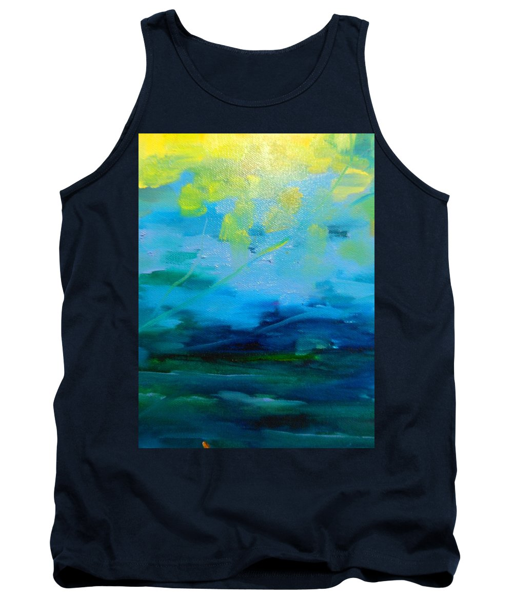 Truck Tank Top featuring the painting The Fog by Lord Frederick Lyle Morris - Disabled Veteran