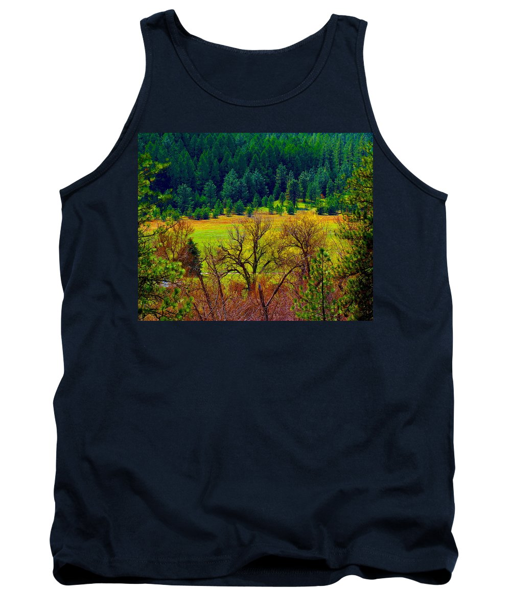 Photo Art Tank Top featuring the photograph The Forest Echoes With Laughter by Ben Upham III