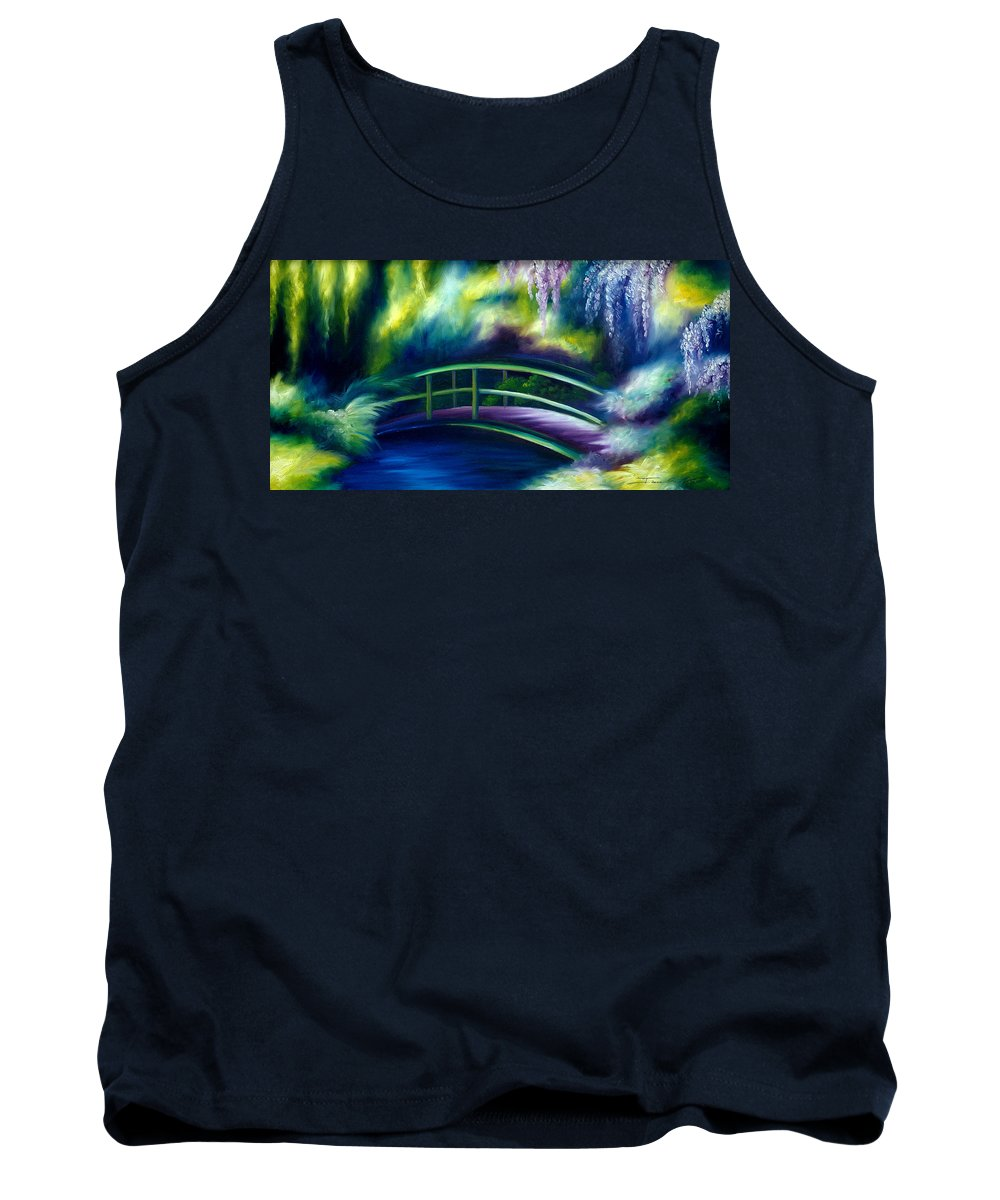 Sunrise Tank Top featuring the painting The Gardens of Givernia by James Christopher Hill