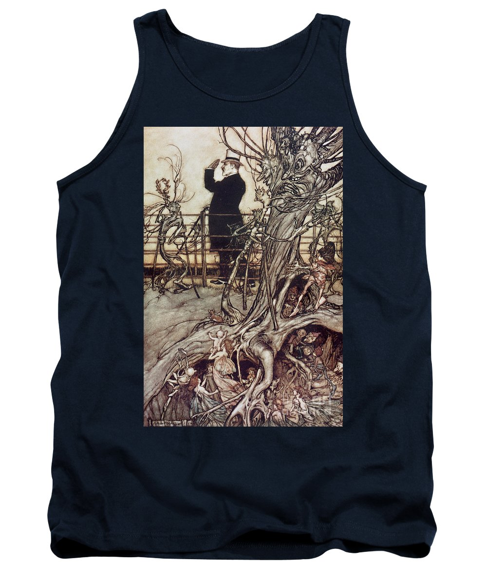 Arthur Rackham Tank Top featuring the drawing The Kensington Gardens Are In London Where The King Lives by Arthur Rackham