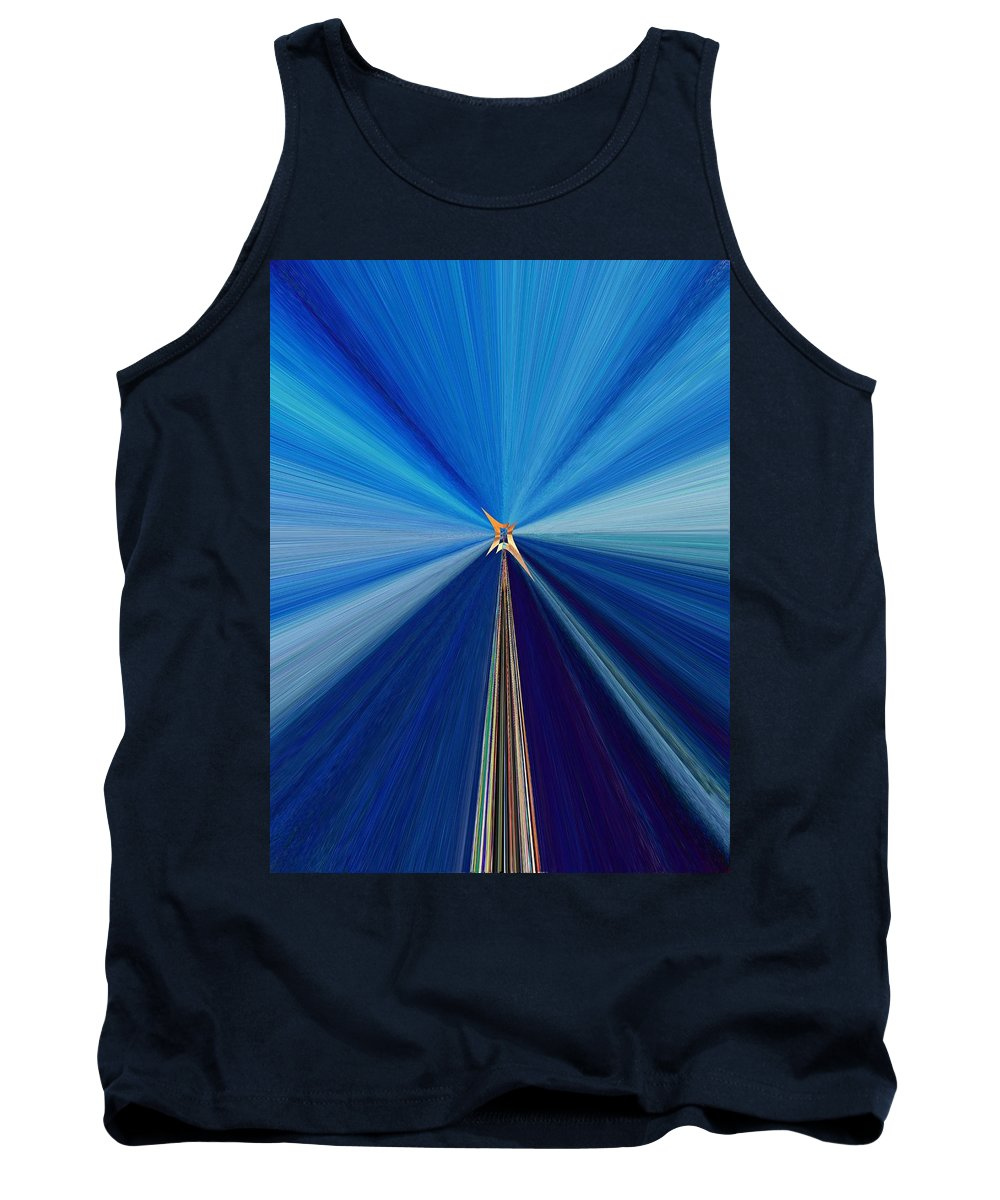 Abstract Tank Top featuring the digital art The Light Fantastic Speedway by Tim Allen