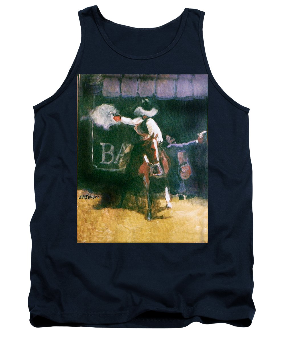 Cowboys Tank Top featuring the painting The Lord Helps Them...a Study by Seth Weaver