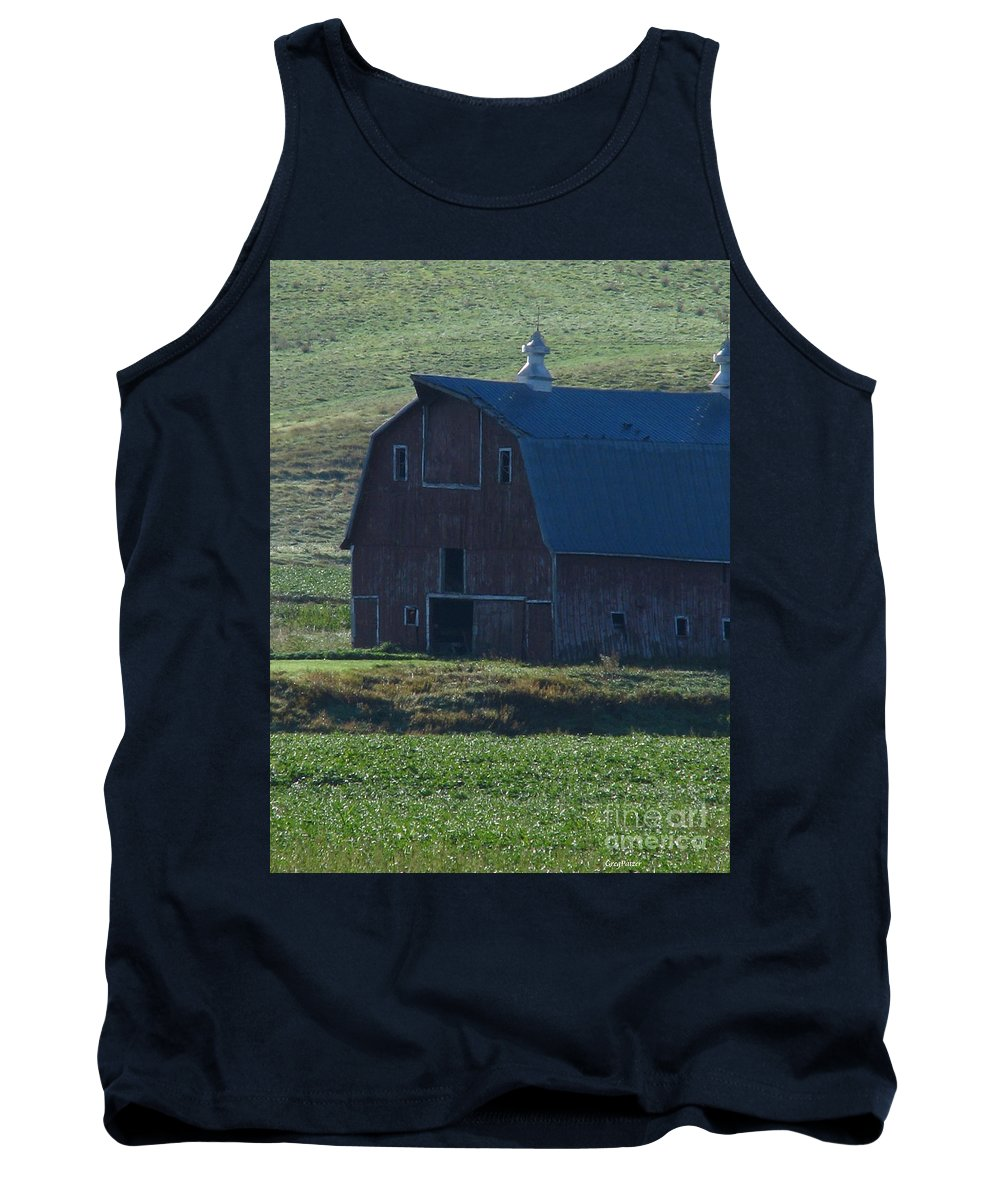 Old Barn Tank Top featuring the photograph The Old Style by Greg Patzer