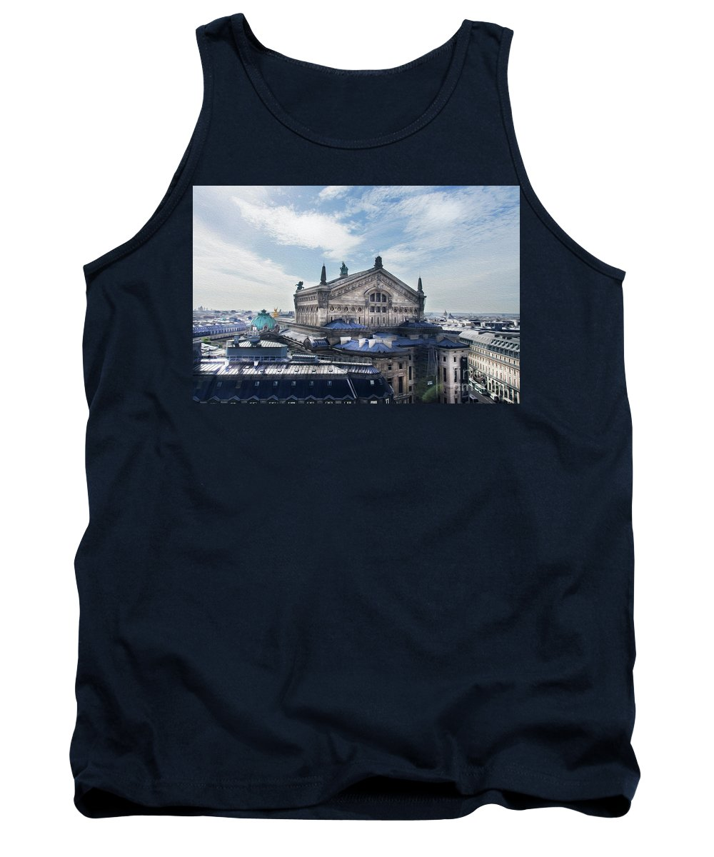 The Paris Opera Tank Top featuring the photograph The Paris Opera 3 Art by Alex Art and Photo