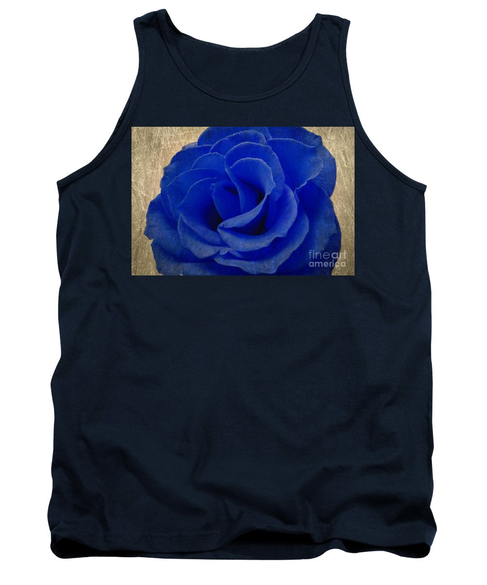 Blue Tank Top featuring the photograph The Rose Of Sadness by Jeffrey Kolker