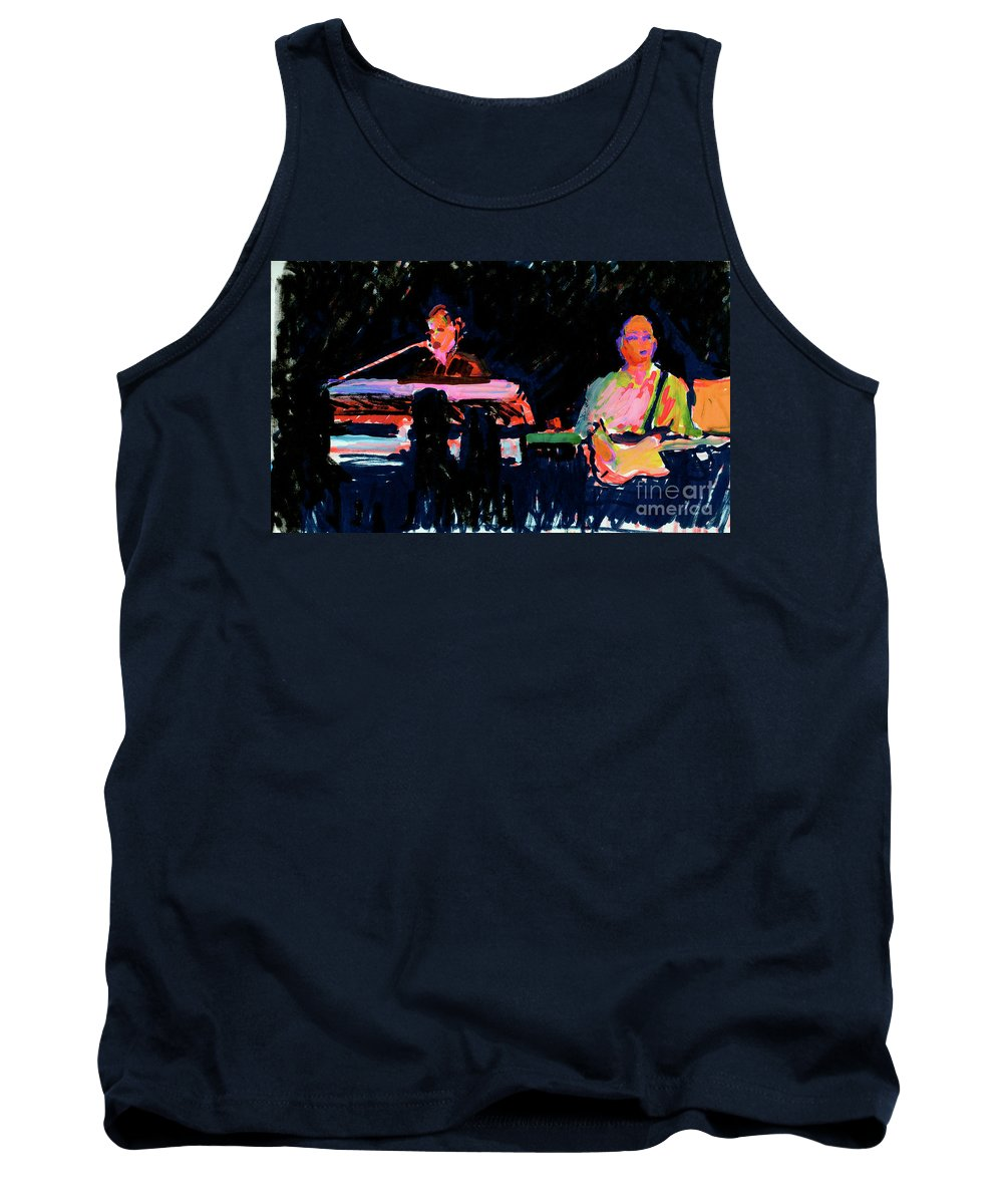 Musical Painting Tank Top featuring the painting The Simpson Brothers by Candace Lovely