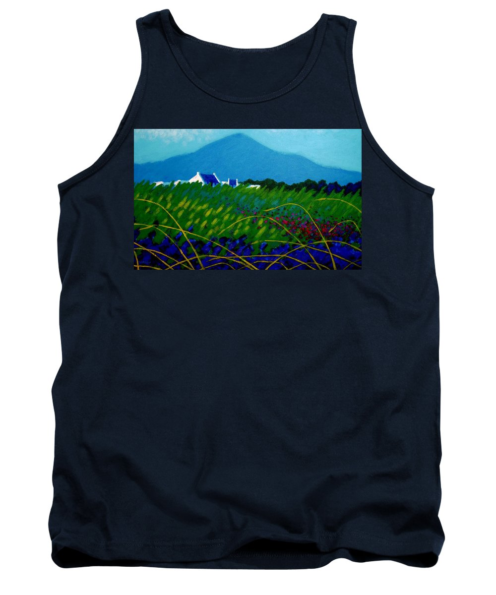 Irish Landscape Tank Top featuring the painting The Sugar Loaf County Wicklow Ireland by John Nolan