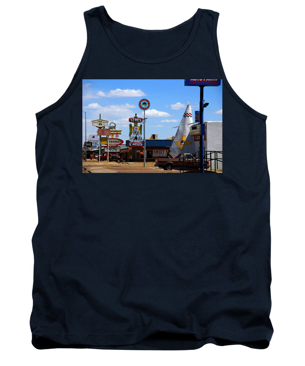 Tucumcari Tank Top featuring the photograph The Tee-pee Curios On Route 66 Nm by Susanne Van Hulst