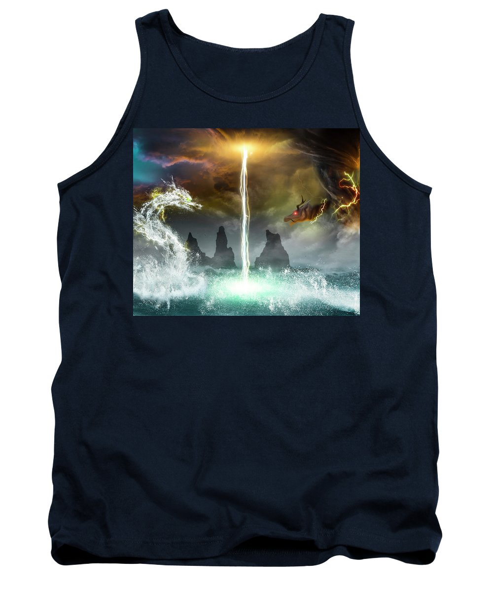 Dragon Tank Top featuring the digital art The Universe Of Dragons by Sandevil Sandhya