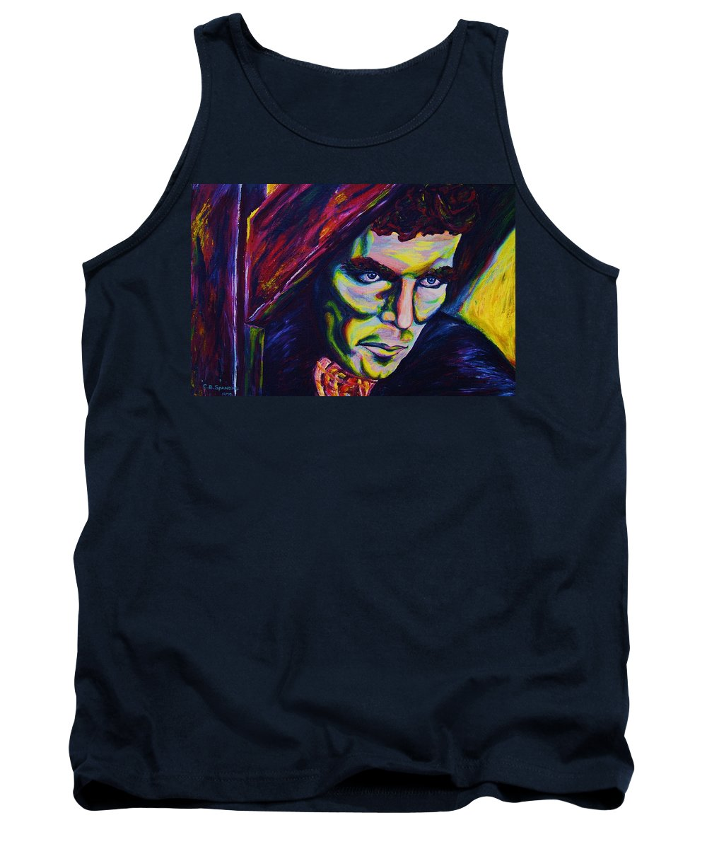Portraits Tank Top featuring the painting The Vampire Lestat by Carole Spandau