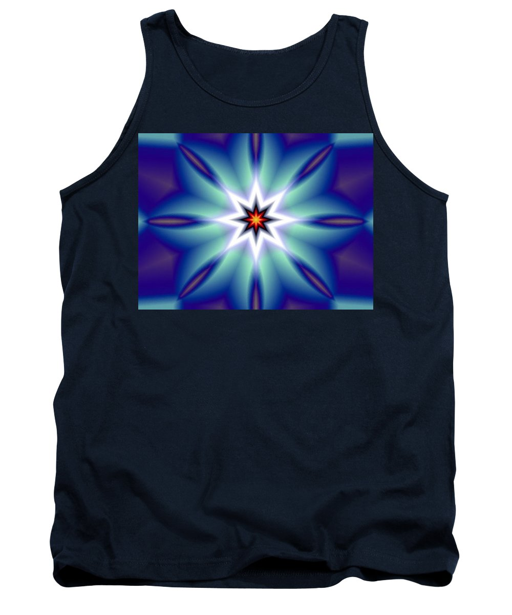 Decorative Tank Top featuring the digital art The White Star by Oscar Basurto Carbonell