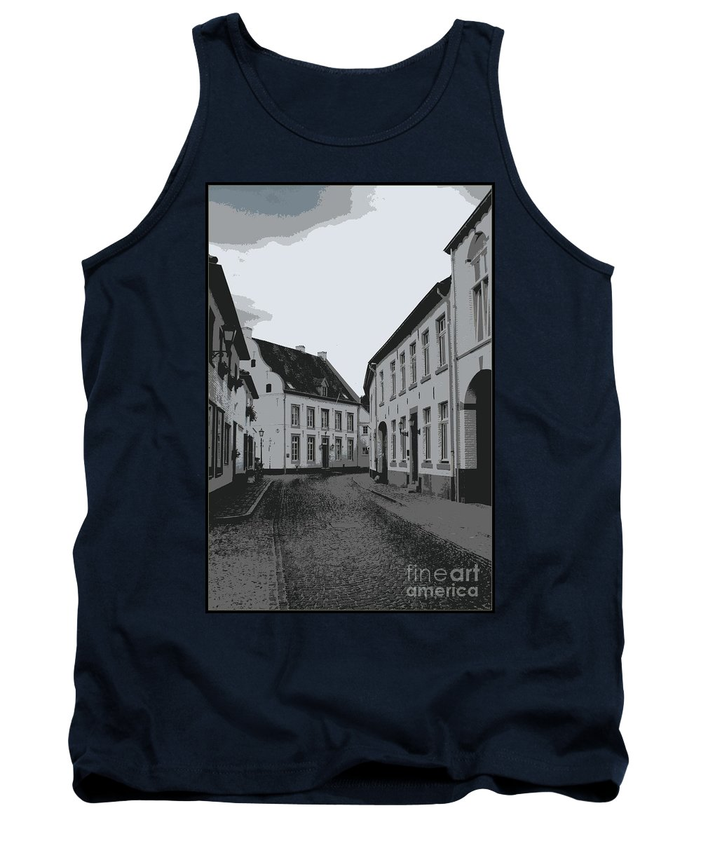 Gray And White Tank Top featuring the photograph The White Village - Digital by Carol Groenen