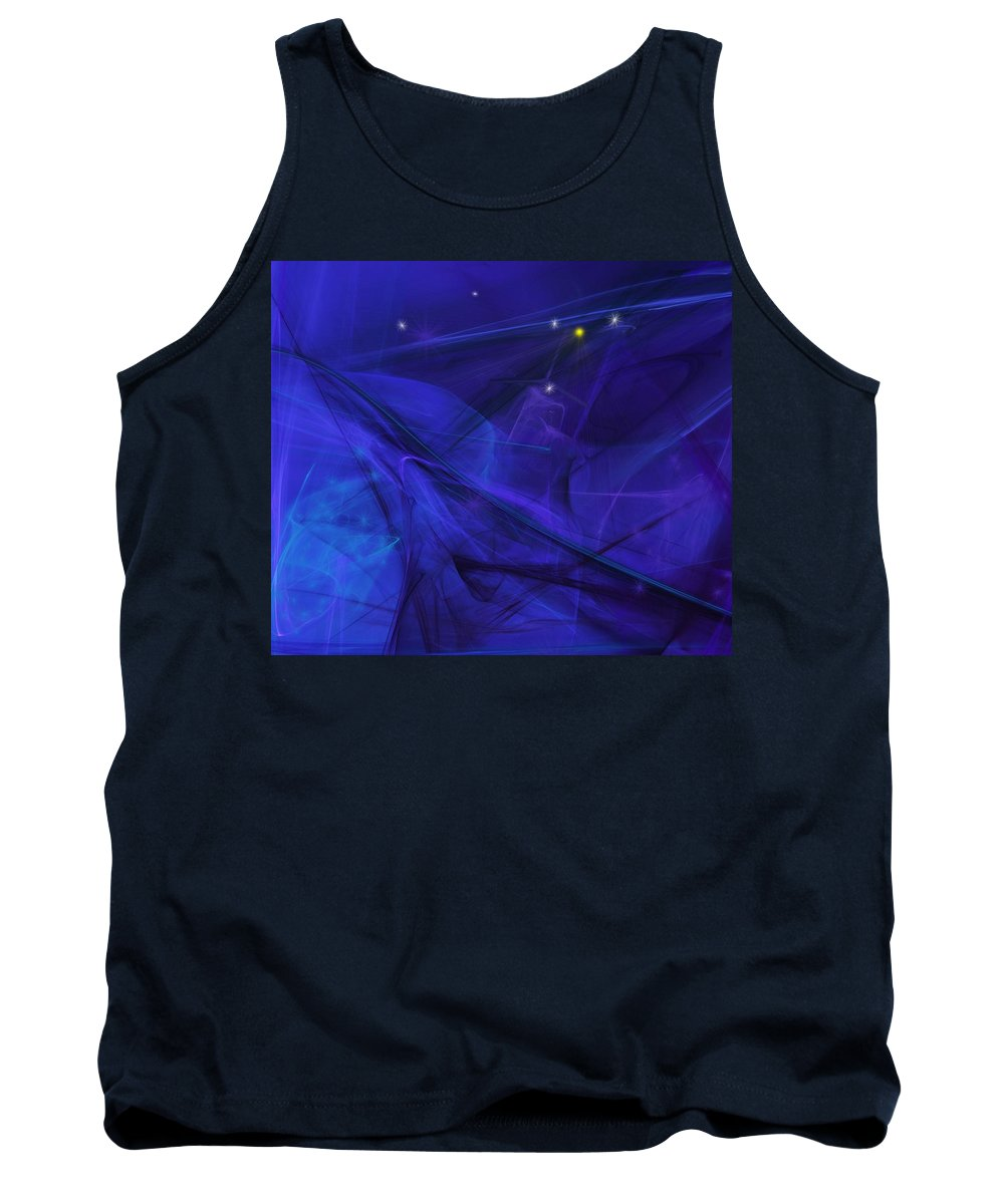 Fine Art Tank Top featuring the digital art The Wizard Mid-incantation by David Lane