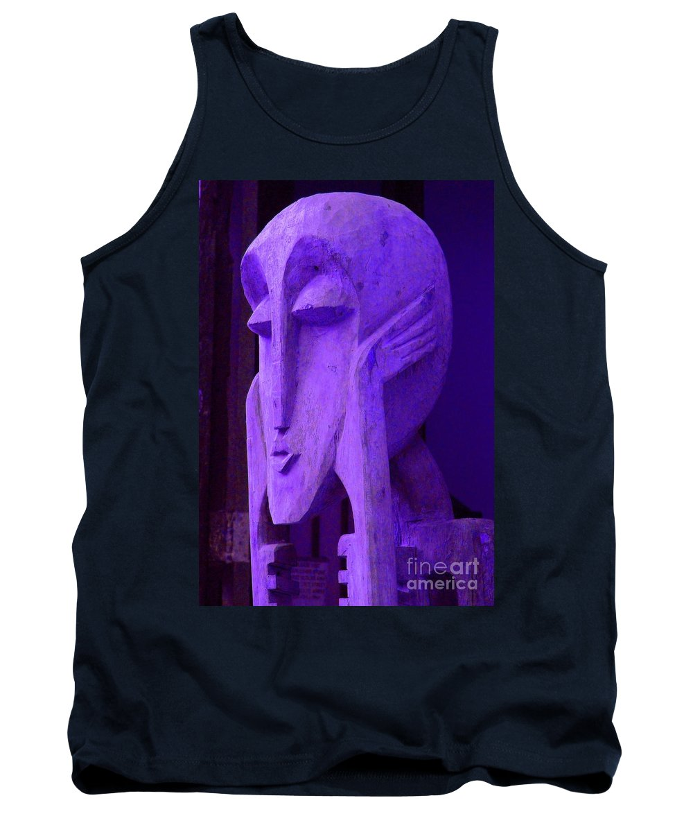 Head Tank Top featuring the photograph Think About It by Debbi Granruth