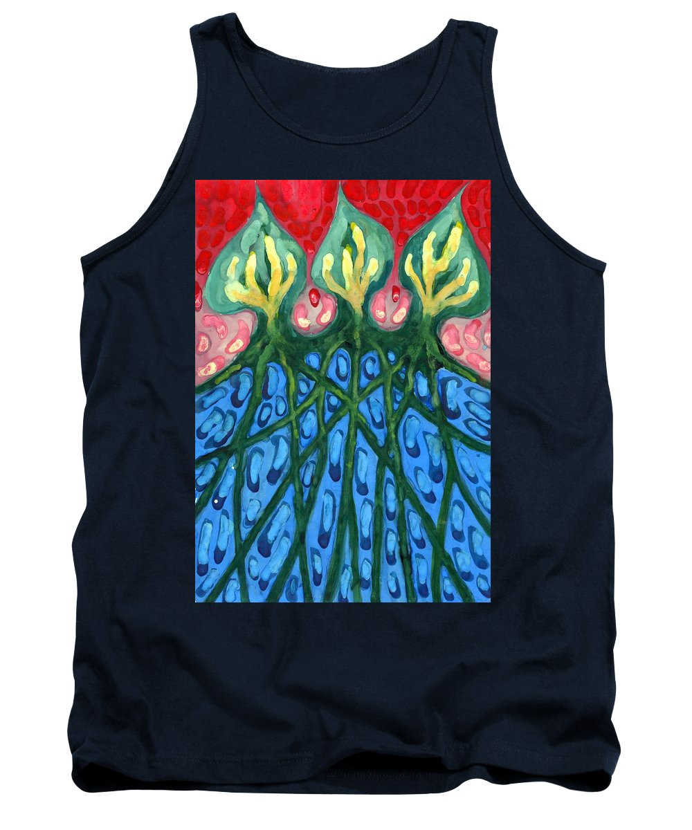Colour Tank Top featuring the painting Three by Wojtek Kowalski