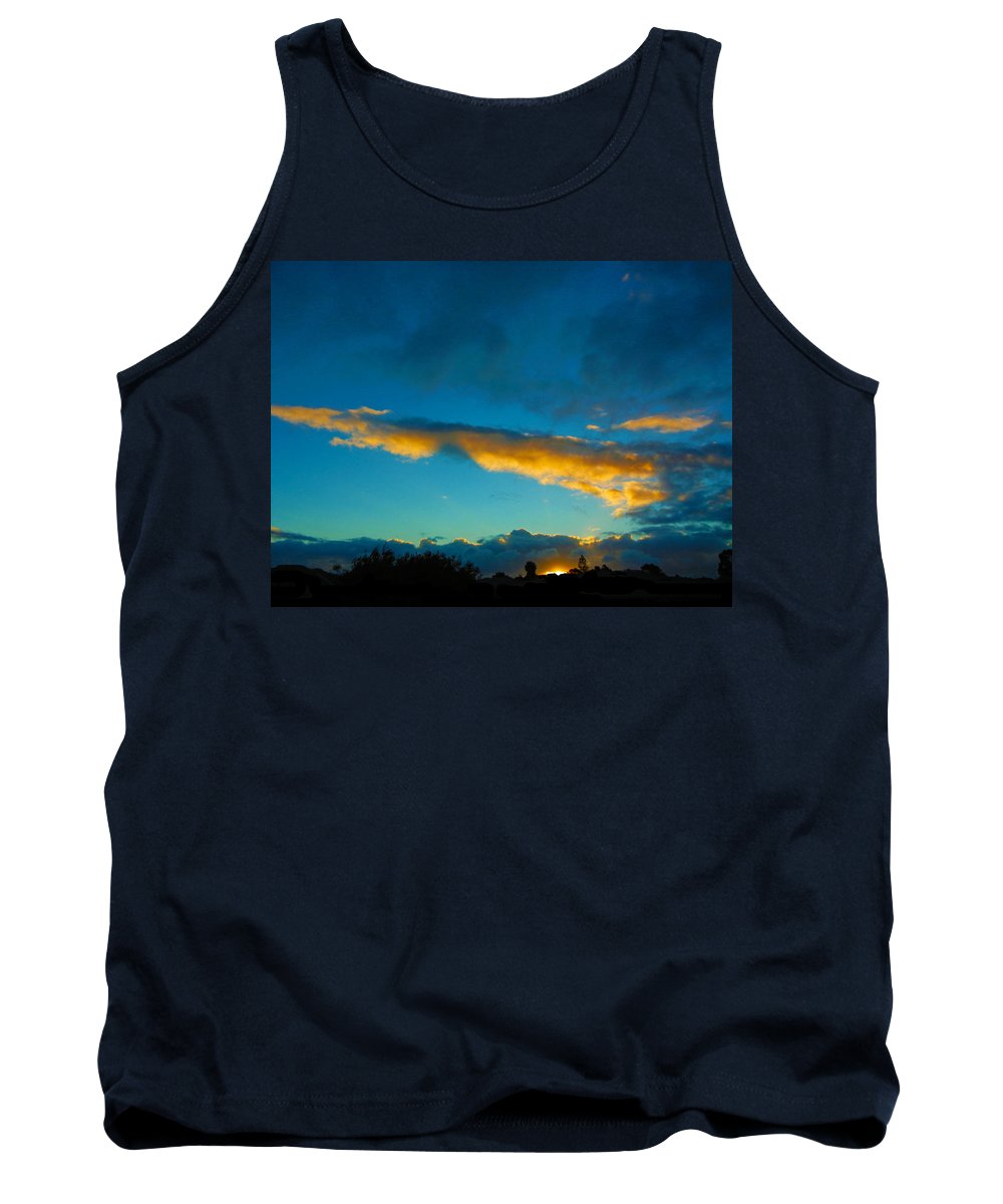Sunset Tank Top featuring the photograph Through The Clouds by Mark Blauhoefer